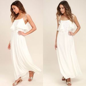 Now and Always Ruffle Maxi Dress